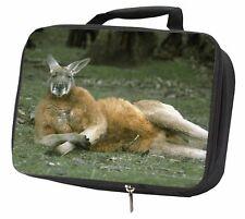 More details for cheeky kangaroo black insulated school lunch box bag, ak-1lbb