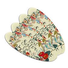 Best Sister Ever Floral Double-Sided Oval Nail File Emery Board Set 4 Pack