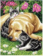 Tre amici-Per Cani E Gatti-Royal Paris Tela Arazzo Stampato