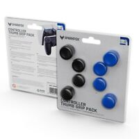 Deluxe 8 Pack Thumb Grips for Playstation 4 and 5 Controllers, Black/Blue