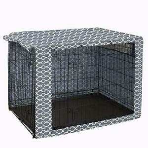 """Grey Dog Crate Cover 