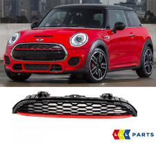 MINI NEW GENUINE F56 F57 FRONT JCW BLACK HOOD GRILLE WITH JCW LOGO CHILI RED