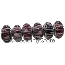 NEW Pandora Purple Zebra Limited Edition Murano Glass Charm Bead ALE 791087