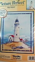 Lighthouse Bucilla Picture Perfect Printed  Cross Stitch Kit 42386  New 1999 USA