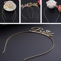 Women Rose Gold Wedding Bride Bling Gold Hair Band Tiara Crown Headband Hoop