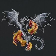 DRAGON BEAUTY SET OF 2 BATH HAND TOWELS EMBROIDERED BY LAURA