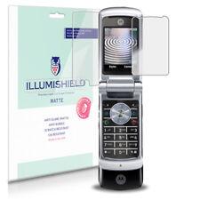 iLLumiShield Matte Screen Protector w Anti-Glare/Print 3x for Motorola KRZR K1