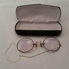 PINCE NEZ True Antique glasses & Camel Back Case
