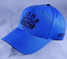 5bf0435d80f Detroit Lions Football Adjustable Cap Reebok Team Apparel Hat Blue