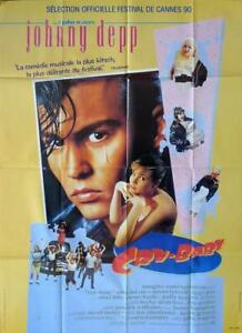 CRY BABY - DEPP / WATERS / LORDS / POP- CAR - ORIGINAL LARGE FRENCH MOVIE POSTER