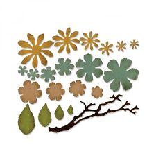 Sizzix Thinlits Troquelado Set 21pk muere pequeño jirones florales 661806