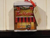 Tim Horton's Limited Edition Collectible Christmas Ornament/Gift Store with tea