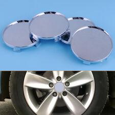4pcs Silver Chrome 68mm Dia Car Wheel Rim Center Cap Hub Cover Protector No Logo