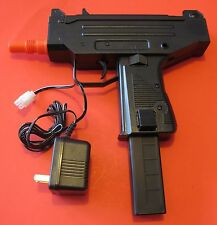 UZI Auto Electric Airsoft Gun with Rechargeable Battery and Battery Charger