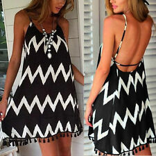 Summer/Beach Unbranded Regular Striped Dresses for Women