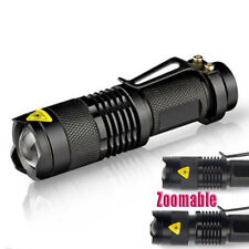 15000LM Adjustable Zoomable Cree T6 LED Flashlight Torch Focus Light Lamp 14500#