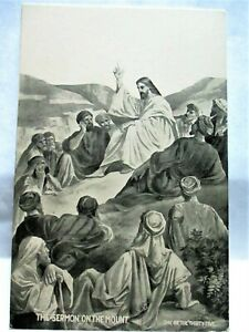 1910 POSTCARD THE SERMON ON THE MOUNT, ONE OF THE THIRTY FIVE