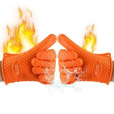 BTS Silicone Heat Resistant Grilling BBQ Gloves, Oven Baking, Cooking, Smoking,