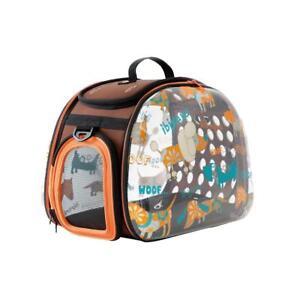 Foldable Pet Carrier Ibiyaya Woof Transparent Hard Case Safe Carrying Bag