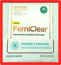 FemiClear For Genital Herpes Symptoms Itching & Tingling - Organic - exp.04/2023