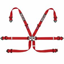 Sparco Endurance 6 Point FHR Saloon GT Car Race Racing Harness - Red