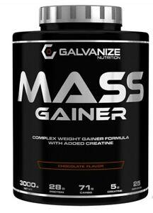 Galvanize Nutrition MASS GAINER 3000g FORMULA & Creatine