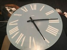 Vintage Authentic Alessi Firenze Wall Clock light blue