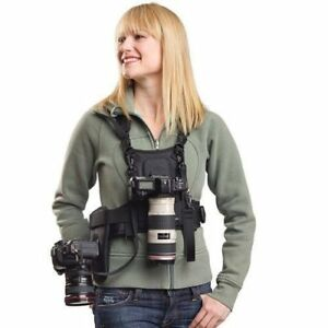 Carrier II Multi Dual 2 Camera Carrying Chest Harness System Vest Quick Strap