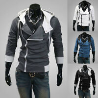 Winter Hoodies Slim Fit Hooded Sweatshirt Outwear Sweater Warm Coat Jacket Men's