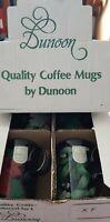 Dunoon Stoneware Set of 4 Christmas Flowers Coffee Tea Mugs Caroline Bessey
