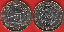 "Mexico 20 pesos 2016 ""Plan Marina"" BiMetallic UNC"
