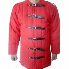 Beautiful Thick Padded Red Gambeson Costumes Suit Of Armor Theater Sca Halloween