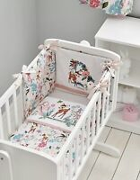 Disney Baby Girl Pink Bambi 100% Cotton Cot & Cot Bed Bedding - Bumper Only