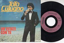 TOTO CUTUGNO disco 45 giri UN'ESTATE CON TE made in FRANCE 1983