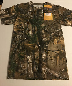 Browning Junior XL Wasatch Short Sleeve T-shirt in Realtree Xtra. Kids XL