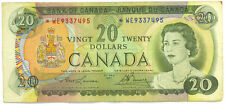 Bank of Canada 1969 $20 Twenty Dollars Replacement Note *WE Asterisk Fine+