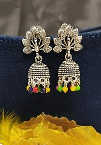 Unique Style Oxidised Silver Plated Mini Jhumki Earring for Girls