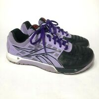 Reebok CrossFit Nano 4.0 CF74 Women's Size 6.5 Training Shoes Purple & Black