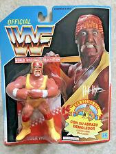 1991 WWF Hulk Hogan - Series 2 - Spanish Variant  Hasbro - 14 Back MOC RARE Mib!