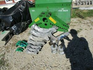 """Greenlee 884 Hydraulic Bender SET 1-1/4 to 4"""" complete all shoes, pins, clips"""