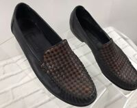 Cole Haan Country Woven Stitched Two Tone Loafers Shoes Women's Sz 9 AA