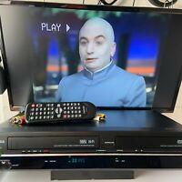 Toshiba SD-V296-K-TU DVD Player VCR VHS Recorder Combo Bundle w/Remote & Cables