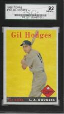 1958 TOPPS GIL HODGES #162 SGC 92 NM-MT+    LOS ANGELES DODGERS
