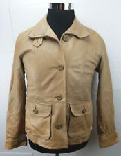 Gap Women's Soft  Leather Jacket/Coat  Pockets Camel Tan Size: Small $250.00