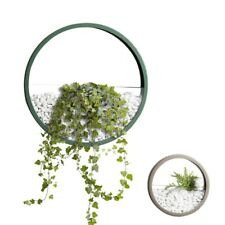 Wall Vase Household Decoration Round Iron Art Succulent Plant Vintage Potted Art