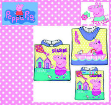 Peppa Pig Wutz Badeponcho Poncho Handtuch mit Kapuze Kaputze Kinder Disney