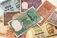 Lot of 8 India Notes from VF to UNC Condition (1957 - 1997, 1 to 500 Rupees)