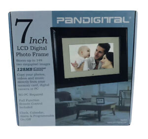 Pandigital LCD 7-inch Digital Photo Frame Black 128 MB PAN70-0 With Remote