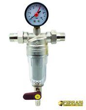 """Filtro ciclonico autopulente per acqua 1/2"""" M completo con Manometro Ferrari"""