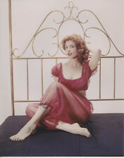 Tina Louise beautiful 8x10 glamour pose busty on bed in skimpy outfit 1960's